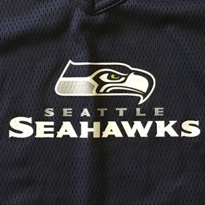 Seahawks jersey size youth medium blue football